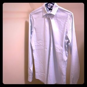 Miu Miu light blue 100% cotton button-down shirt